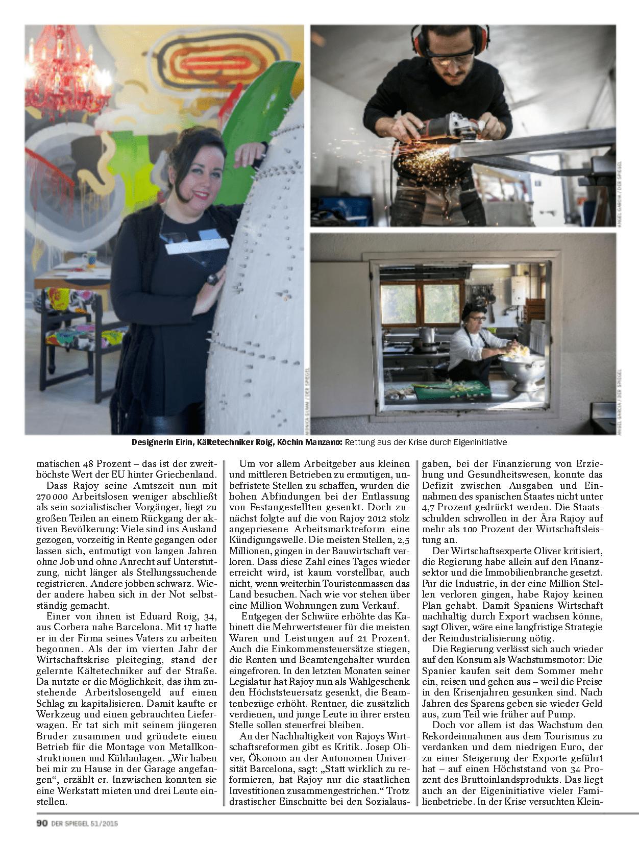 El estudio y Mercedes Eirin en la prestigiosa revista 'Spiegel'