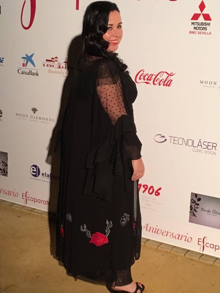 Mercedes Eirín en los Premios Escaparate