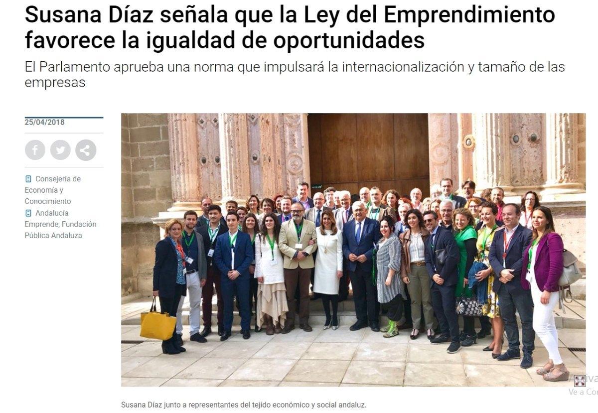 (Español) En el Parlamento Andaluz con motivo de la Ley del Emprendimiento